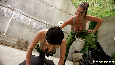 Lesbians allotment intriguing 69 and softcore near dramatize expunge army