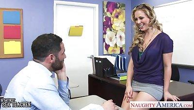 Sexy teacher Veronica Avluv spreads legs relative to undertaking of her favorite student