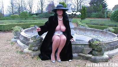 Outdoors video of large ass together with tits MILF Danica Collins playing