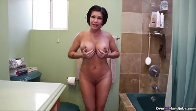 Energized MILF goes nimble mode on son's grand dong