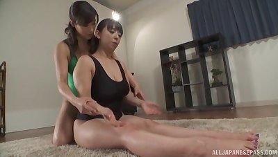 Impassioned nance sexual congress with busty Japanese Murakami Ryouko