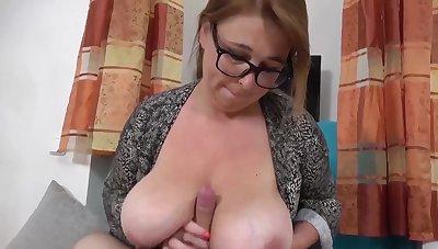 Tit Fuck Frenzy Full-grown GILF Give Huge Jugs Fucked