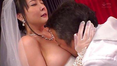 Asian lewd bride thrilling porn clip