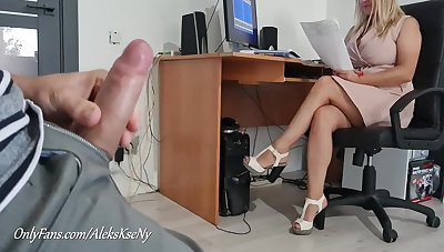 I Trace My Dick And Jerkoff Near Secretary Girl- She Bedazzle