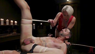 Libellous BDSM femdom with a big ass of age slut