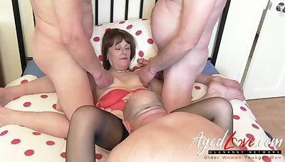 AgedLovE British Mature together with Three Cocks Groupsex