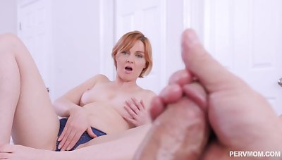 Aroused MILF wants a piece of her bit son's delicacy dong