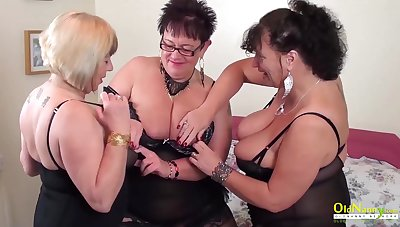 Two white hot lesbians playing with sex toys and with each other
