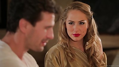 Hot MILF Carter Cruise enters a bar round an increment of seduces a man into having sex round her