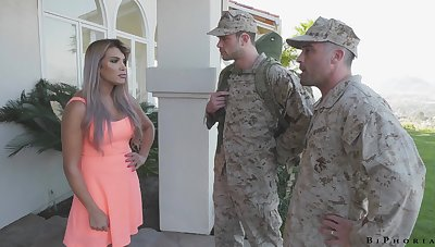 Army officer makes soldier to give a blowjob to fucking hot get hitched Mercedes Carrera