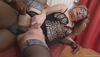 Mature wife with a phat ass transforming into a disastrous cock slut