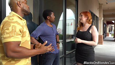 Revealing powerful namby-pamby milf Lauren Phillips is fucked by two hot blooded black guys