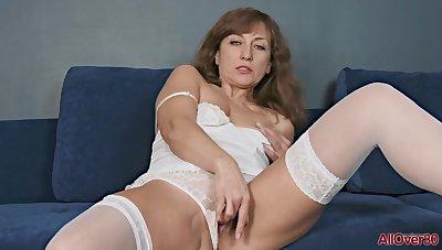 Rafaella Mature Pleasure solo Mom masturbation