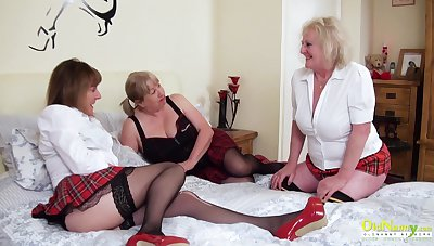 Three extremely horny matured lesbians captured for ages c in depth pussy licking and playing with sex toys