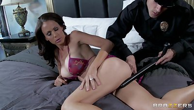Naughty police office fucks tight asshole be beneficial to MILF McKenzie Lee