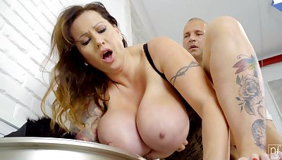 Tall Hungarian MILF beside huge natural boobs loves to get fucked properly