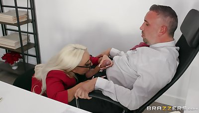 Best inches be advisable for the thirsty secretary check out a wild blowjob