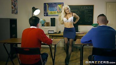 Young lads show their teacher eradicate affect best threesome she ever had
