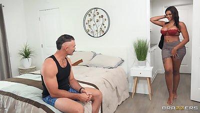 Thick ebony babe wants the doyenne man's cock germane away