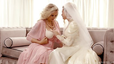 Bride enjoys along to mature mother-in-law for a few rounds of lesbian XXX