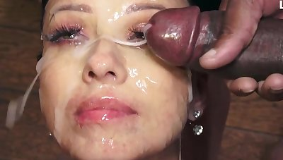 Vicky Love swallows 48 huge mouthful cumshots