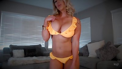 Muscled kirmess mom in different outfits - unattended compilation