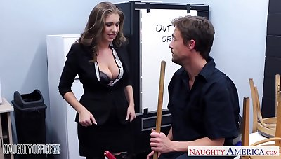 Giant breasted unreasoned office nympho fucks missionary damn largely