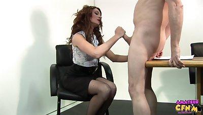 Hot exasperation secretary Nikita Law lets her kingpin fuck her wet pussy